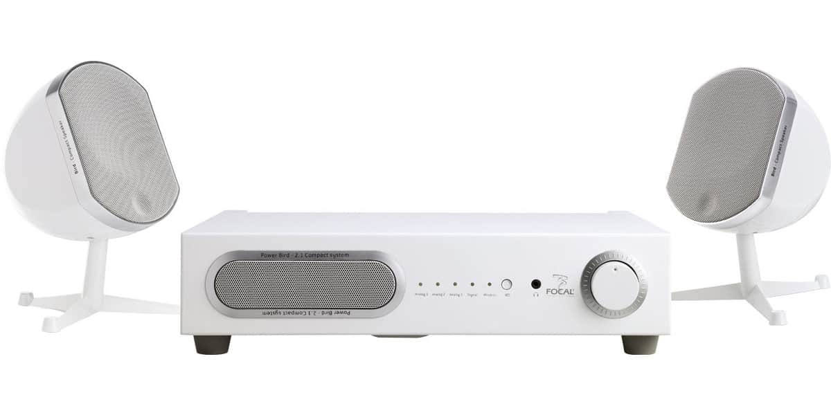 Focal littlebird 2 1 blanc packs home cin ma complets sur easylounge - Home cinema 2 1 blanc ...