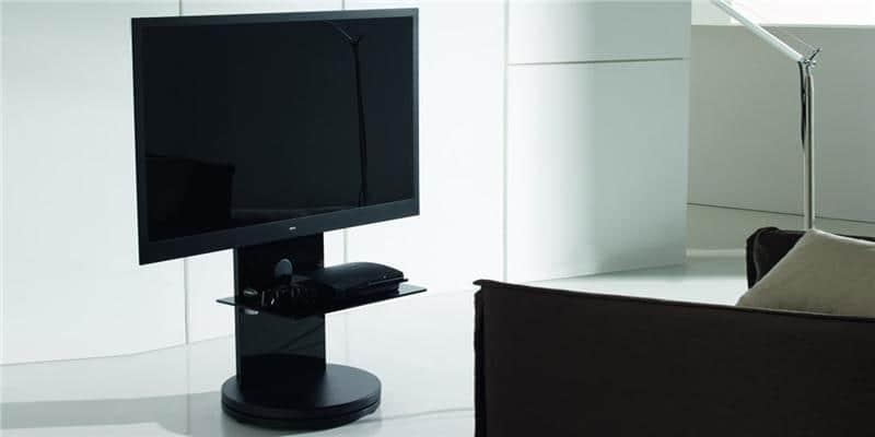 gisan fs100 noir supports tv sur pied sur easylounge. Black Bedroom Furniture Sets. Home Design Ideas