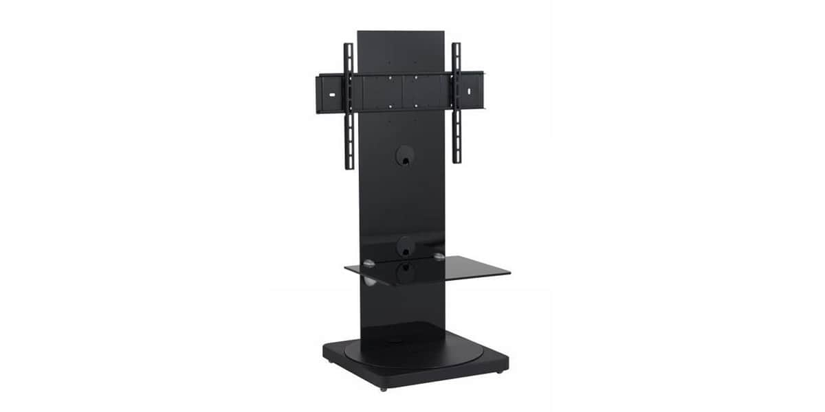 gisan fs101 noir supports tv sur pied sur easylounge. Black Bedroom Furniture Sets. Home Design Ideas