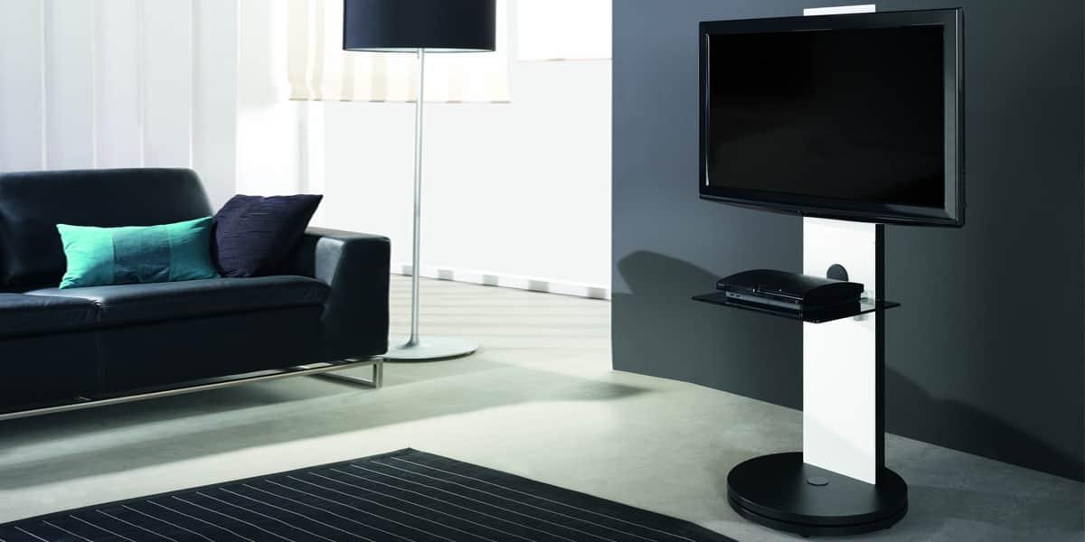 Gisan fs120 blanc meubles tv gisan sur easylounge - Meuble tele pivotant ...