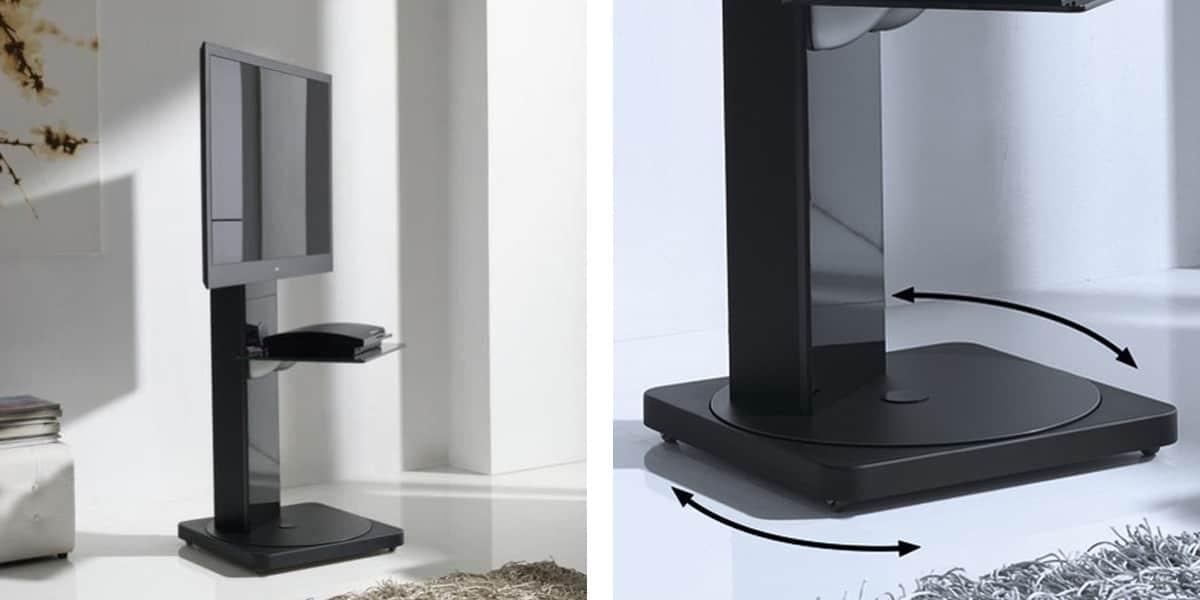 gisan fs121 noir meubles tv sur easylounge. Black Bedroom Furniture Sets. Home Design Ideas