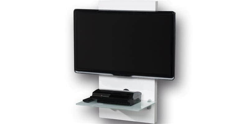 Gisan sm105 blanc meubles tv gisan sur easylounge for Meuble tv colonne