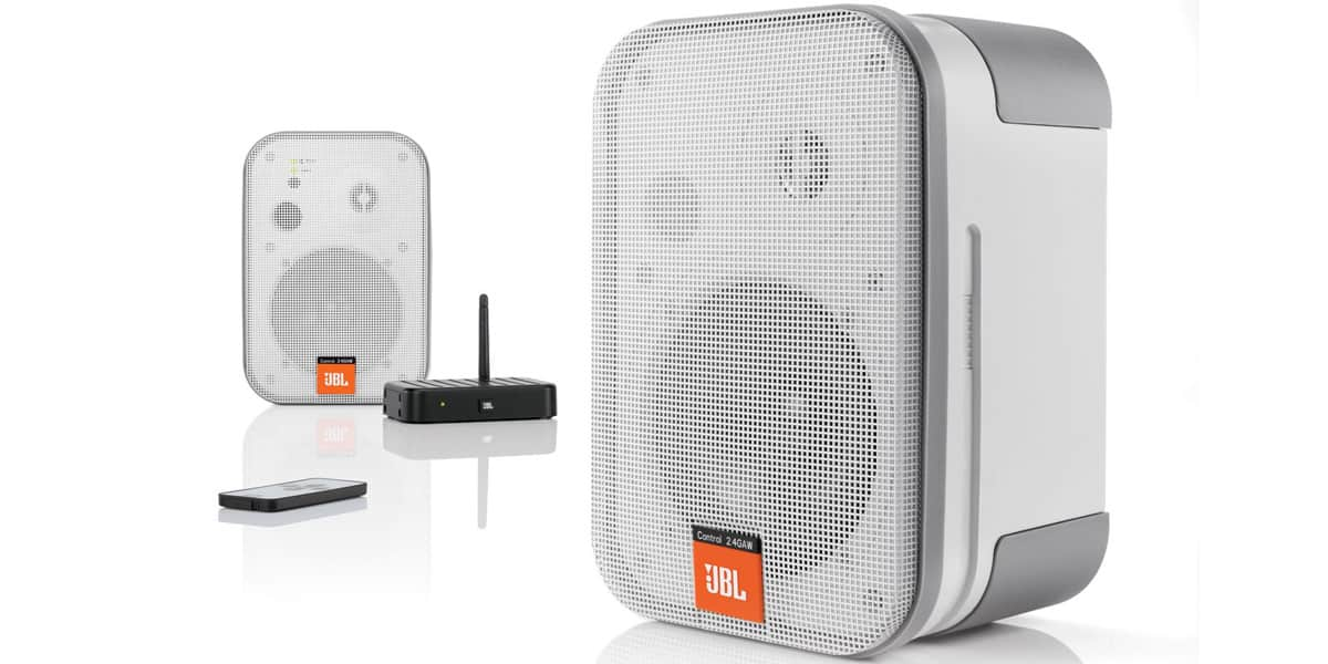 Jbl control 2 4 awg blanc enceintes ipod iphone sur for Enceinte wifi exterieur