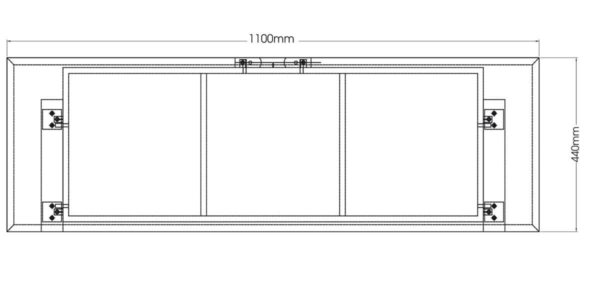 Meuble Tv Kaorka : Meuble Tv Kaorka K125 L1100 Pin Argentin