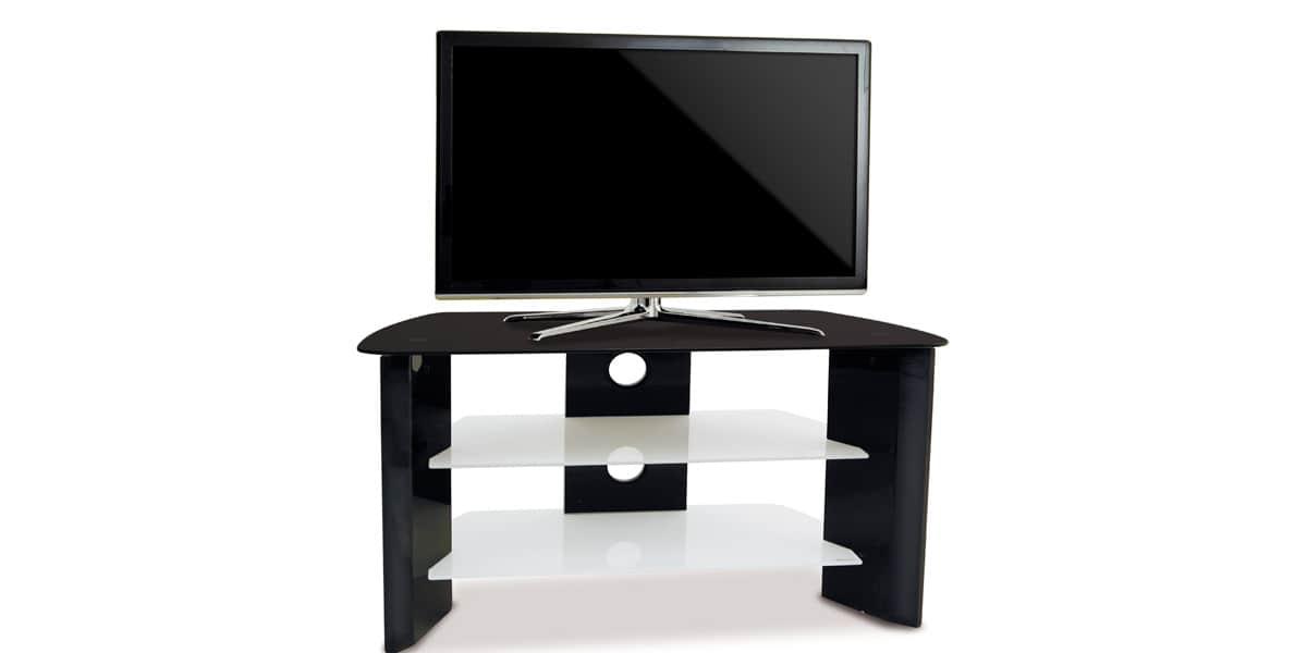 Kaorka k120 l800 noir meubles tv divers sur easylounge for Meuble tv kaorka