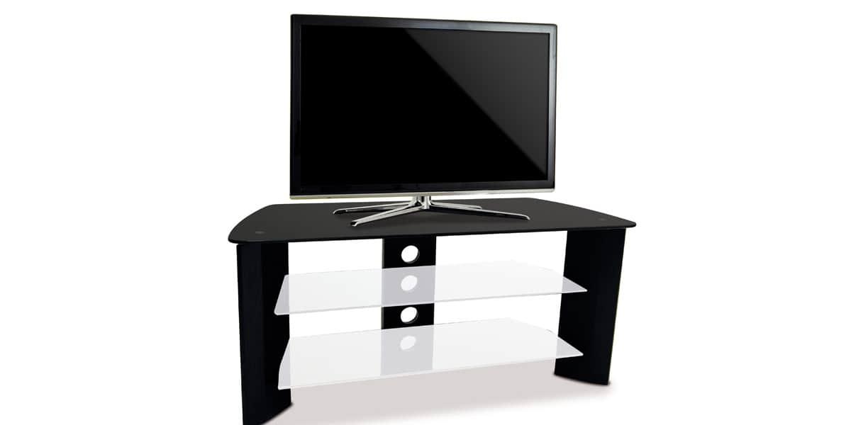 Kaorka k120 l1000 noir meubles tv divers sur easylounge for Meuble tv kaorka