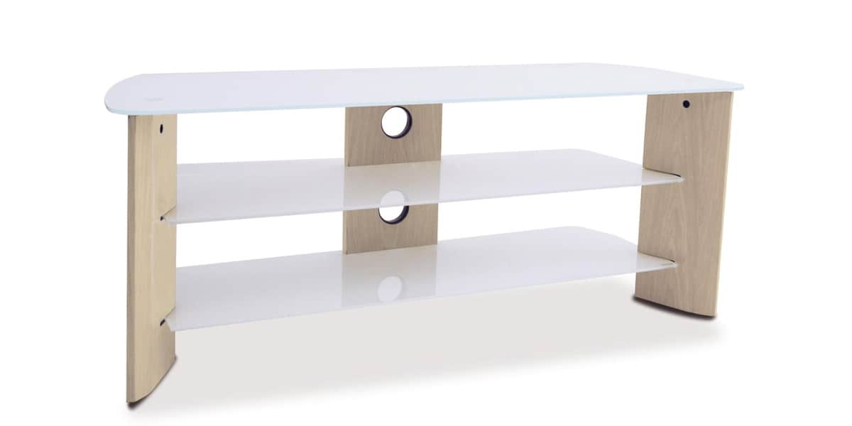 Kaorka k120 l1200 blanc meubles tv divers sur easylounge for Meuble tv kaorka