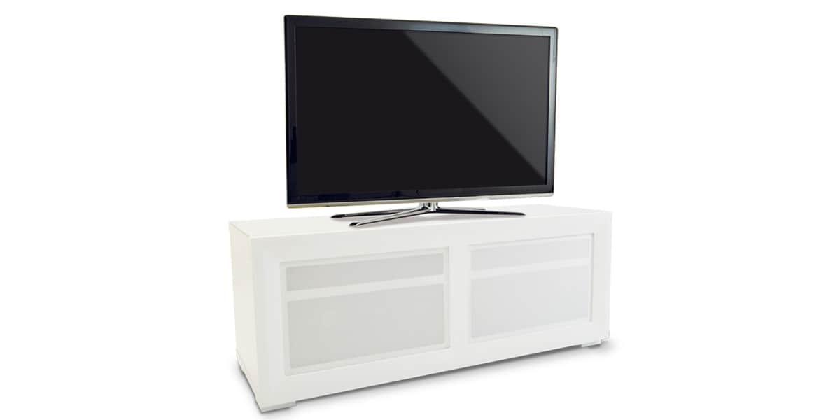 Kaorka k140 l1100 blanc meubles tv divers sur easylounge for Meuble tv kaorka