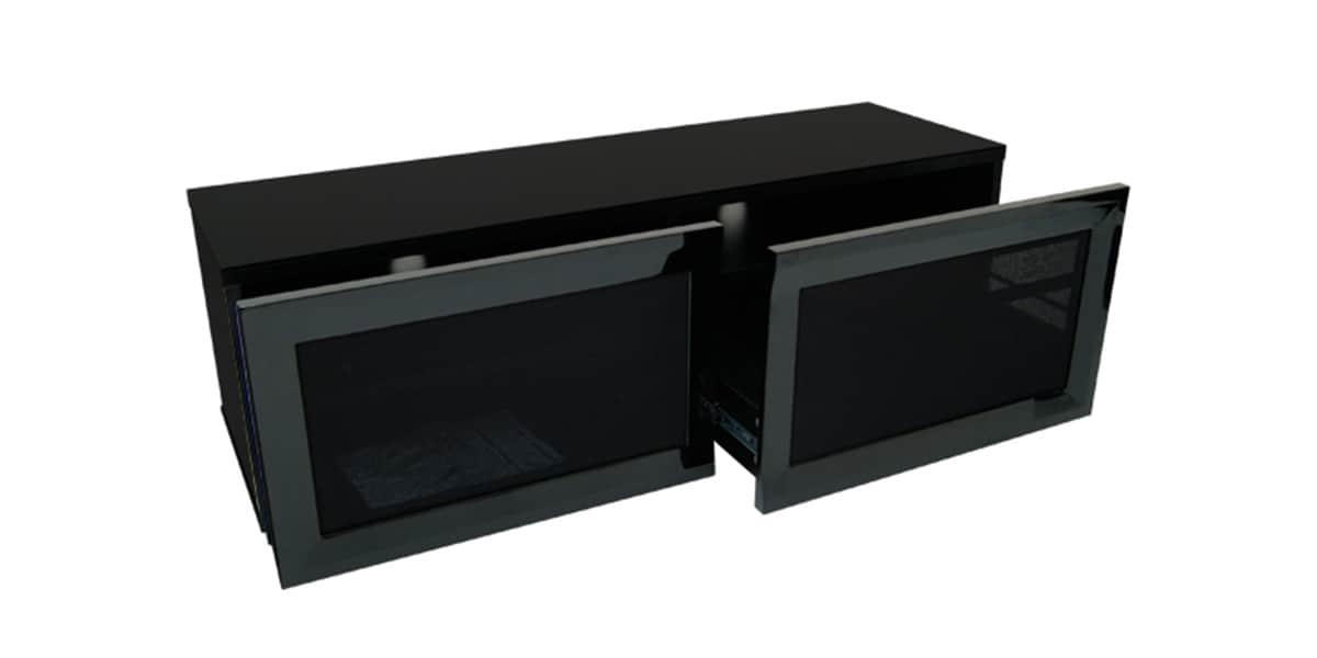 Kaorka k140 l1350 noir meubles tv divers sur easylounge for Meuble tv kaorka