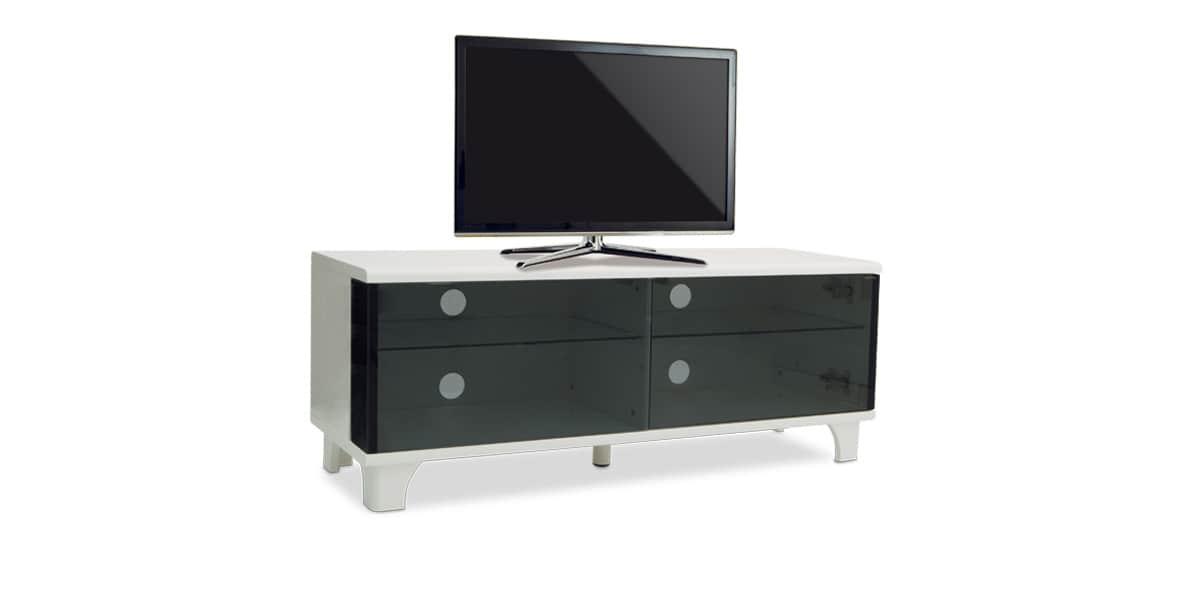 Meuble Tv Kaorka Blanc : Meuble Tv Kaorka K160 L1000 Blanc Et Noir
