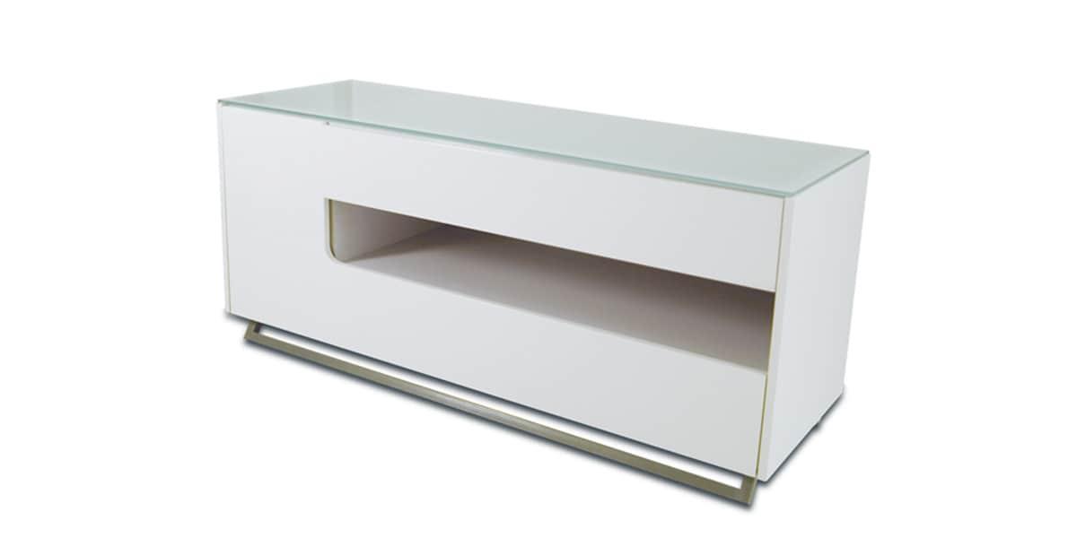 Meuble Tv Kaorka Blanc : Voici Le Meuble Tv Kaorka K170 Blanc Laqué De La Gamme Kaorka