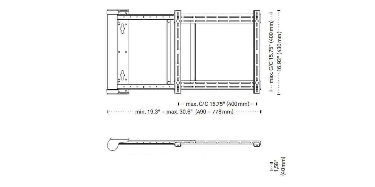 lava electronics lrm901 s supports tv motoris s sur. Black Bedroom Furniture Sets. Home Design Ideas