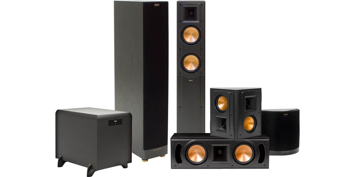 klipsch 5 1 klipsch rf 52 packs enceintes colonnes sur easylounge. Black Bedroom Furniture Sets. Home Design Ideas