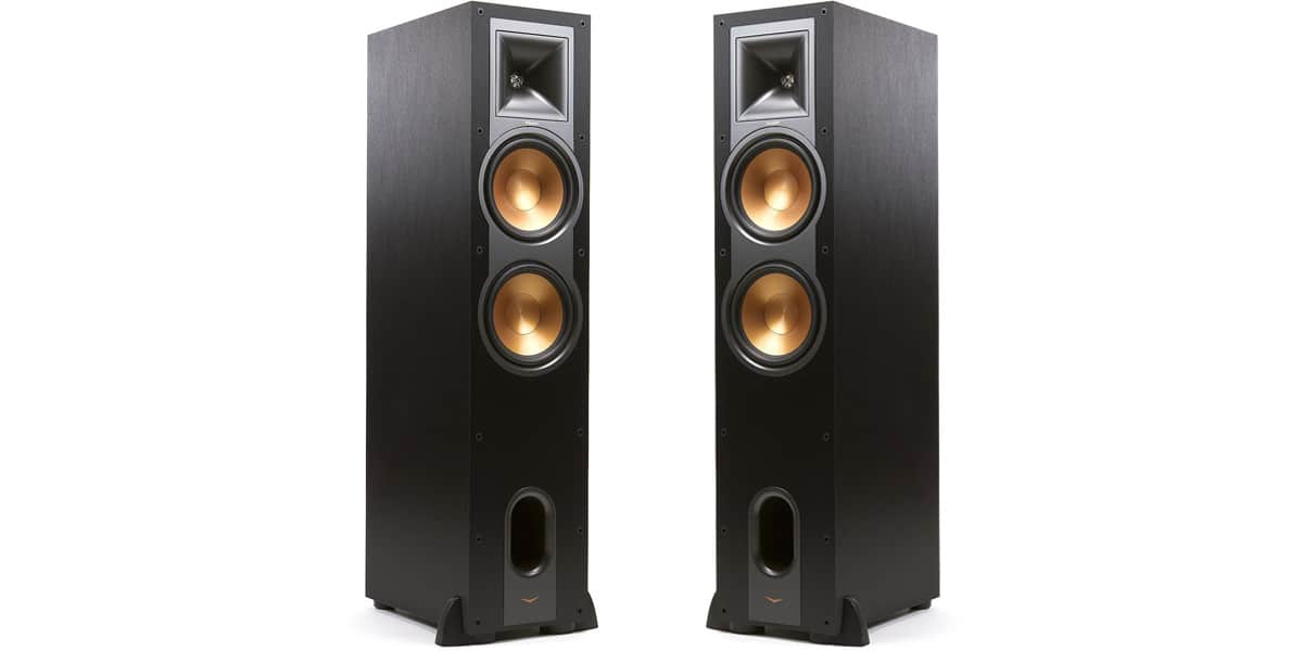 klipsch r 26f noir enceintes colonnes sur easylounge. Black Bedroom Furniture Sets. Home Design Ideas