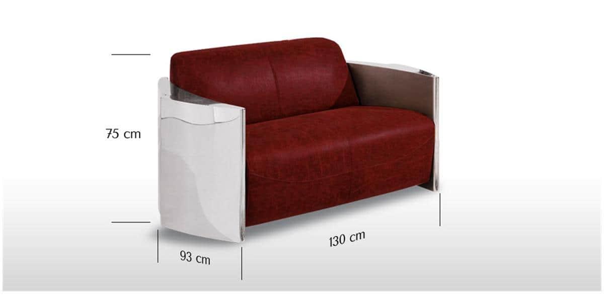 Coti design canap lover2 rouge tous les canap s sur for Tous les canapes