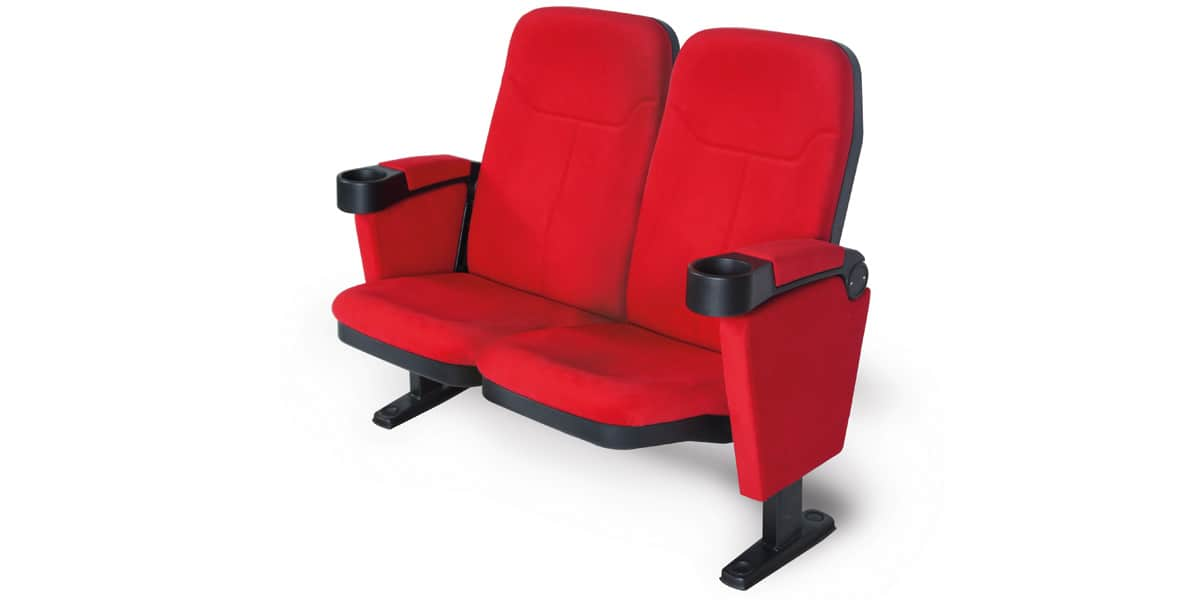 Lumene hollywood double confort rouge easylounge - Fauteuil rouge cinema ...