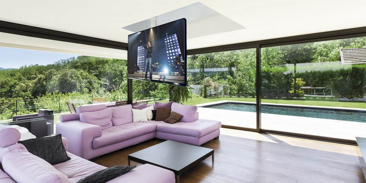 Maior flip900 supports tv motoris s sur easylounge - Support videoprojecteur plafond encastrable ...