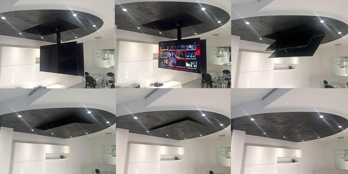 tv plafond motoris with tv plafond motoris. Black Bedroom Furniture Sets. Home Design Ideas