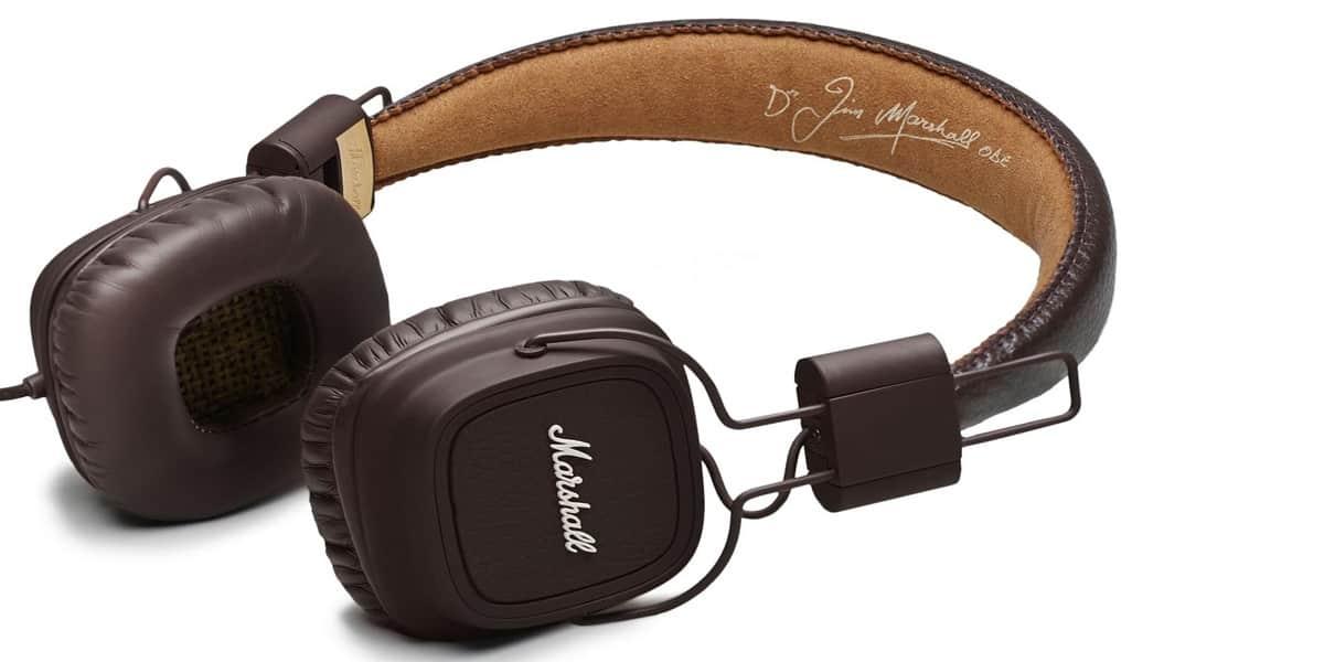 marshall major 2 marron casques audio nomades sur easylounge. Black Bedroom Furniture Sets. Home Design Ideas
