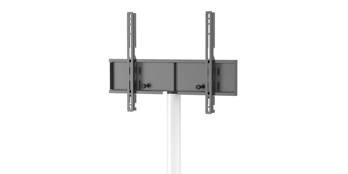 Meliconi bracket column white supports tv sur pied sur for Support tv orientable meliconi