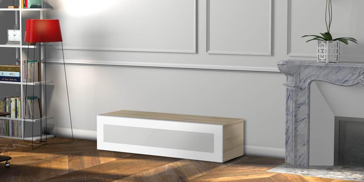 Meliconi boston 120 bois clair meubles tv meliconi sur - Meuble tv infrarouge ...
