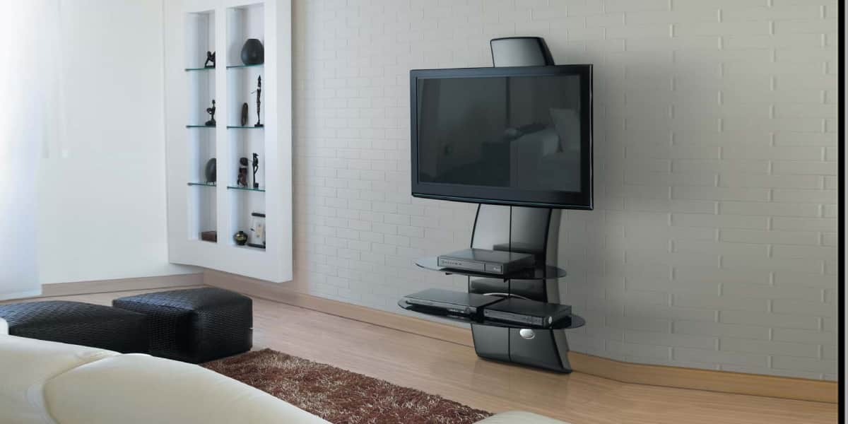 meliconi ghostdesign2000 noir meubles tv meliconi sur easylounge. Black Bedroom Furniture Sets. Home Design Ideas