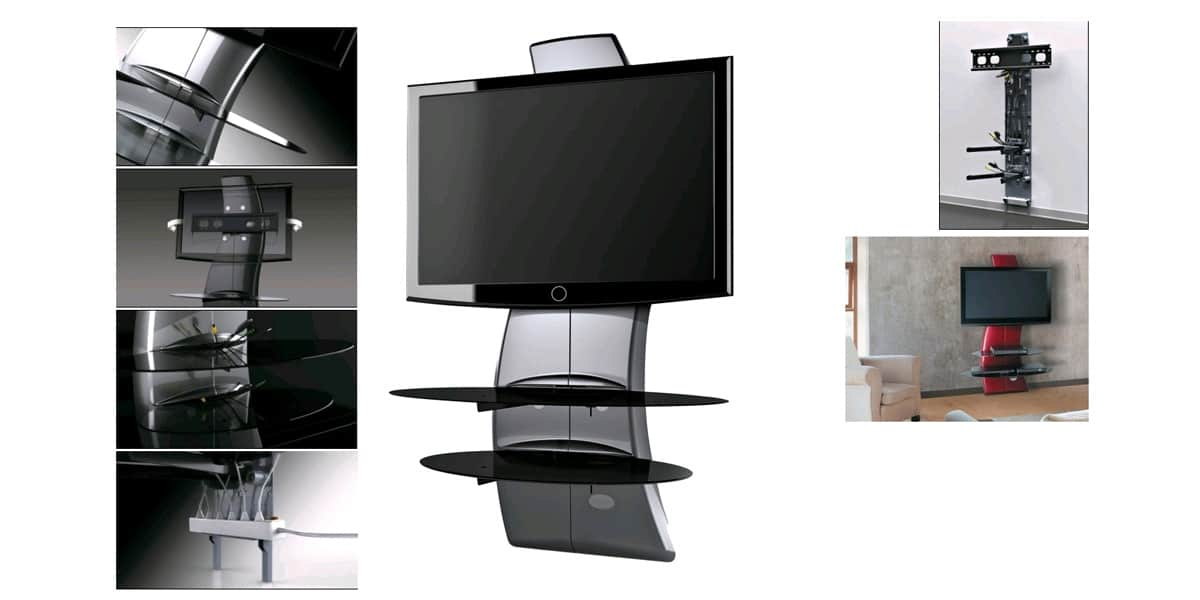 meliconi ghostdesign2000 gris meubles tv meliconi sur easylounge. Black Bedroom Furniture Sets. Home Design Ideas