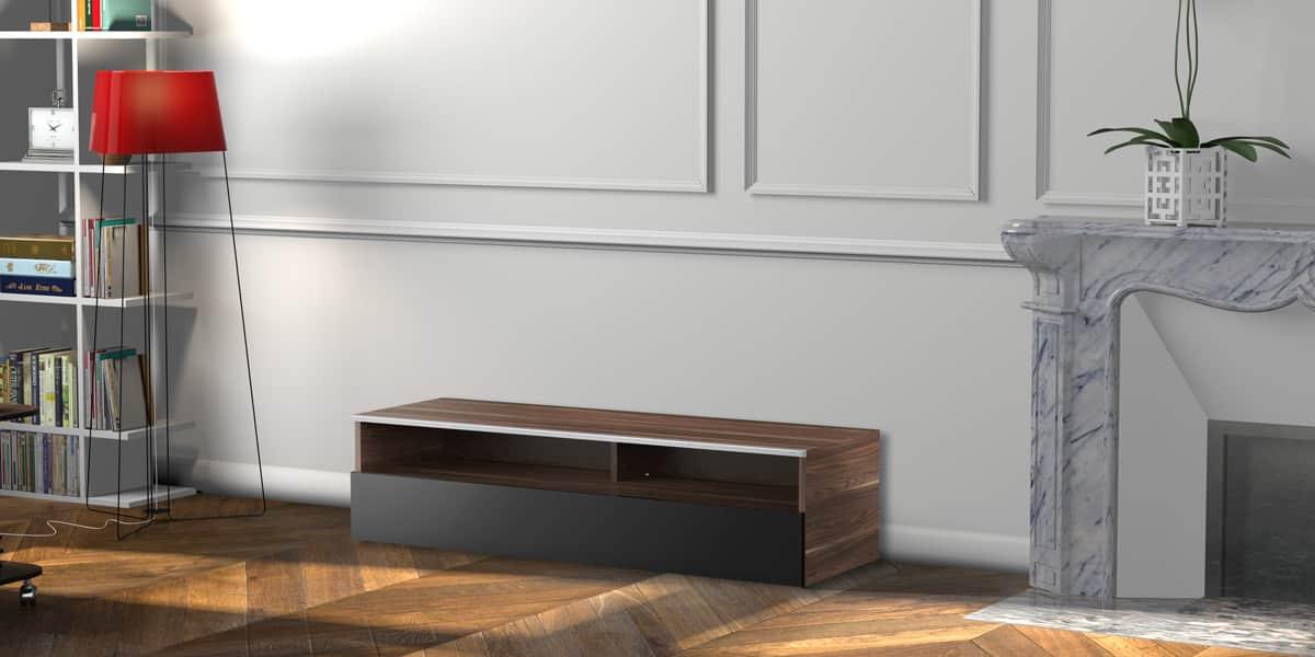 meliconi detroit 120 bois fonc meubles tv meliconi sur easylounge. Black Bedroom Furniture Sets. Home Design Ideas