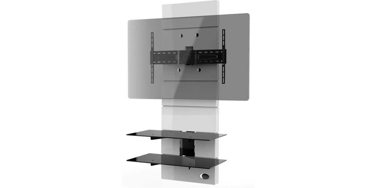 Meliconi ghost design 3000 blanc meubles tv meliconi sur for Meuble tv meliconi