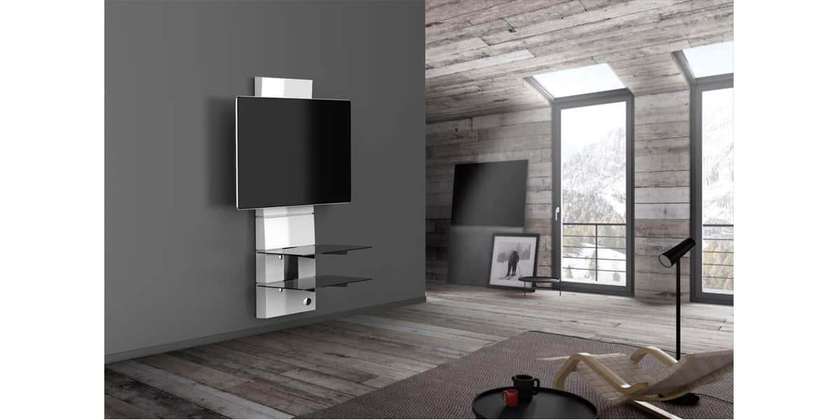 Meliconi ghost design 3000 blanc meubles tv meliconi sur - Carrello porta tv meliconi ...