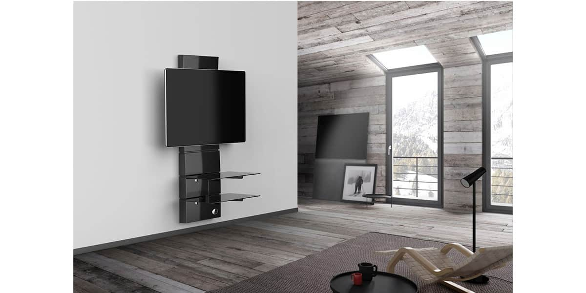 meliconi ghost design 3000 noir meubles tv meliconi sur easylounge. Black Bedroom Furniture Sets. Home Design Ideas