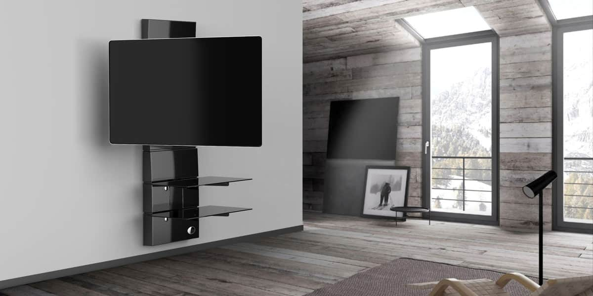 Meliconi ghost design 3000r noir meubles tv meliconi sur for Meuble tv mural orientable