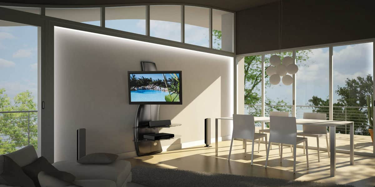 Meliconi ghost design 2000 dr carbone easylounge - Staffe porta tv meliconi ...