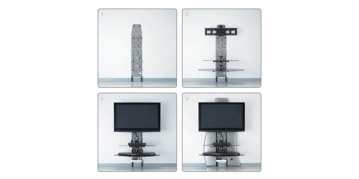 Meliconi ghost design 2000 dr noir easylounge for Meuble tele design mural