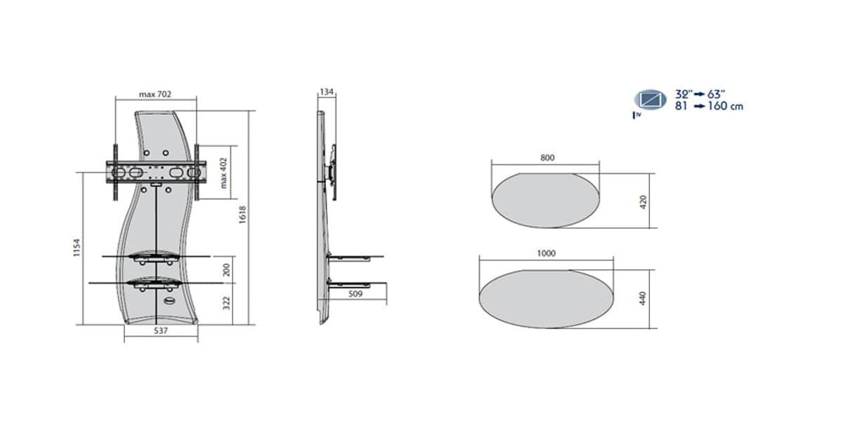 meliconi ghost design 2000 dr noir | easylounge - Meuble Tv Mural Meliconi Ghost Design 2000