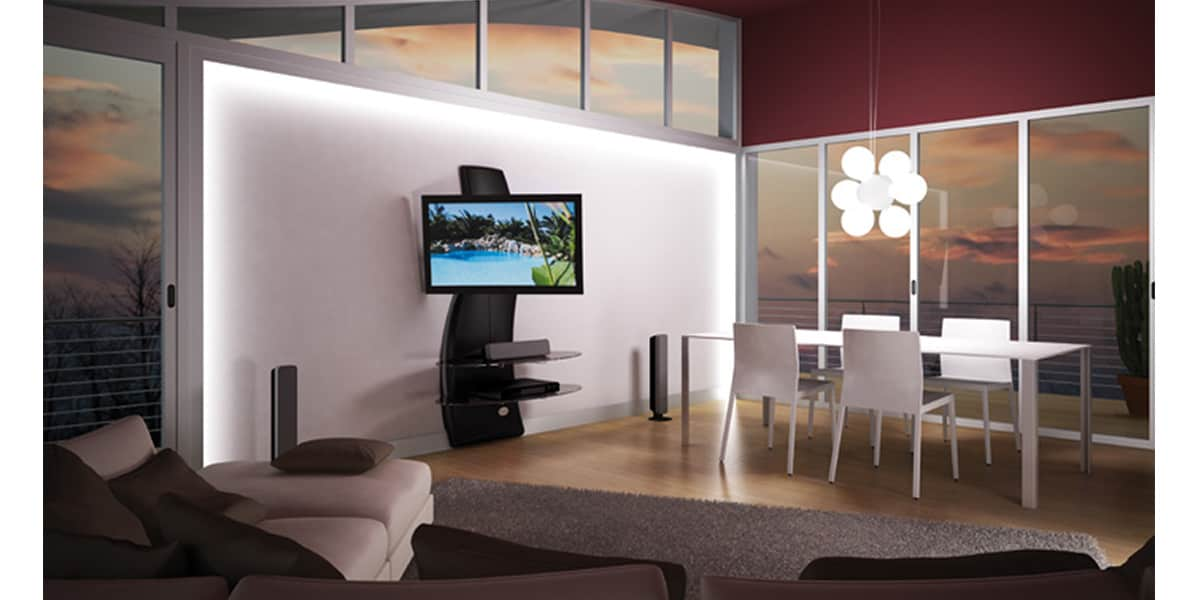 Meuble Tv Meliconi : Meuble Tv Mural Orientable Et Inclinable Meliconi Ghost Design 2000 Dr