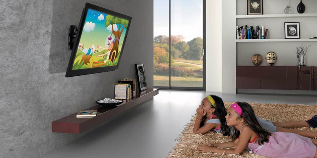 Meliconi r 100 noir supports tv muraux sur easylounge - Support mural tv angle ...