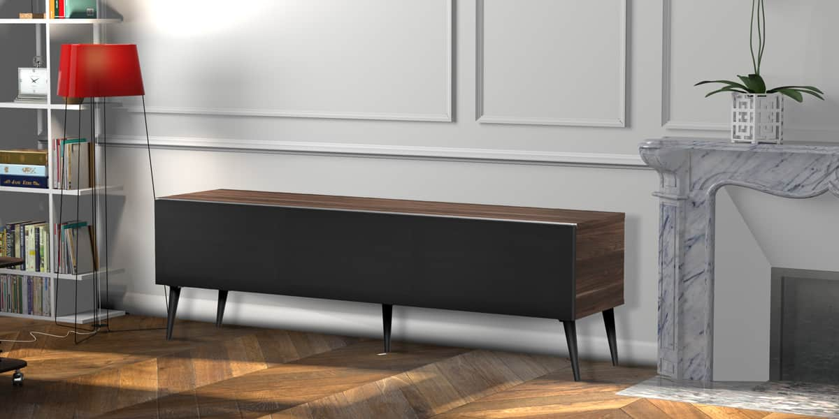 meliconi lund 160 bois fonc meubles tv meliconi sur easylounge. Black Bedroom Furniture Sets. Home Design Ideas