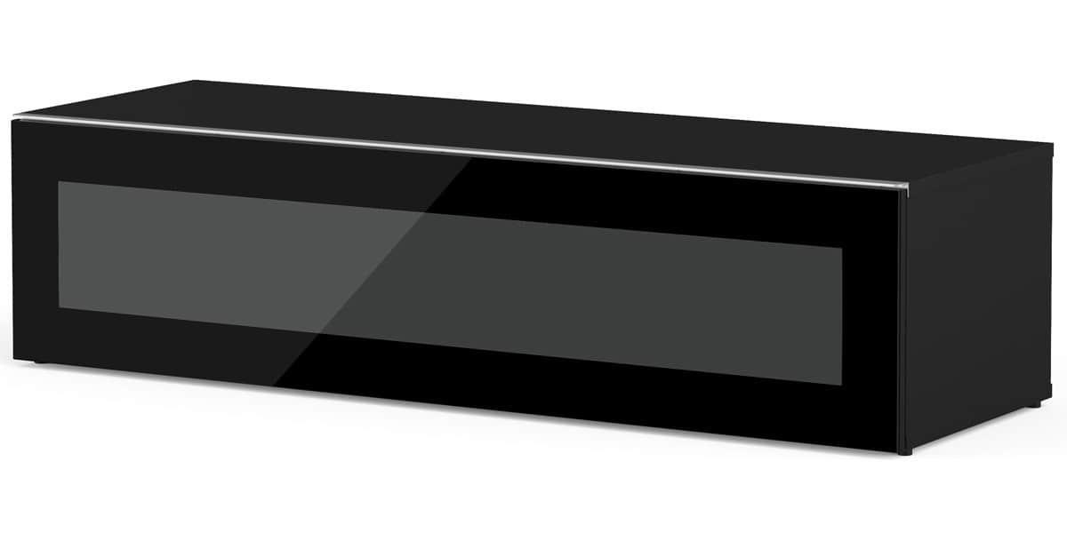 Meliconi menphis 120 caisson noir porte noire easylounge - Meuble tv infrarouge ...