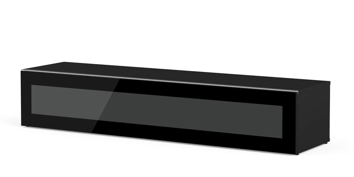 Meliconi menphis 160 noir meubles tv meliconi sur easylounge for Meuble tv meliconi