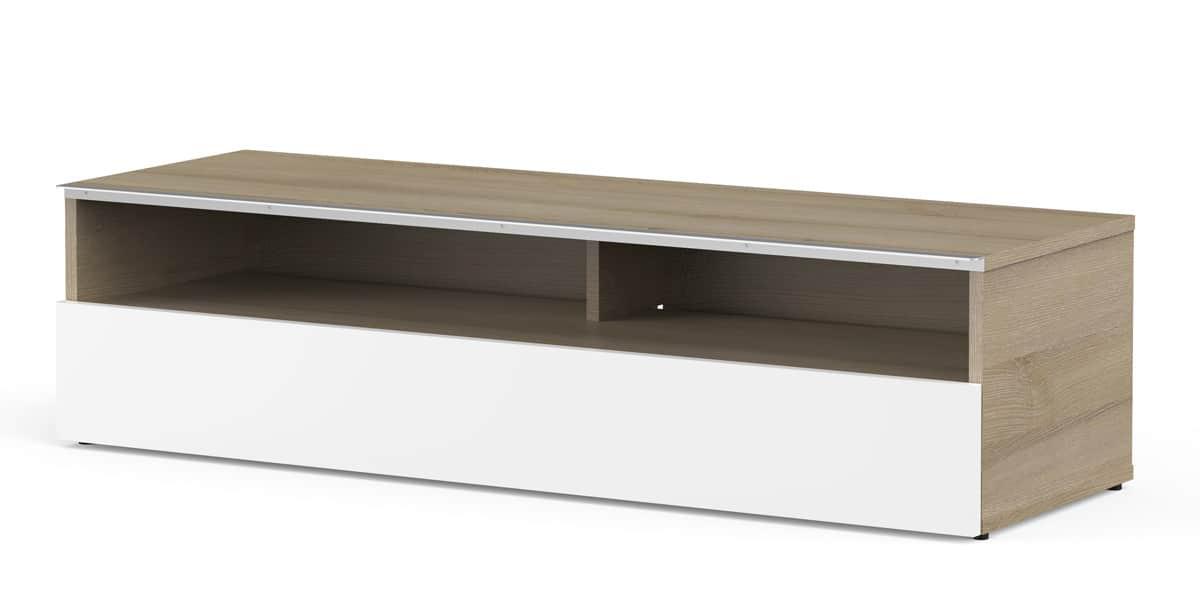 Meliconi miami 120 bois clair meubles tv meliconi sur for Meuble tv meliconi