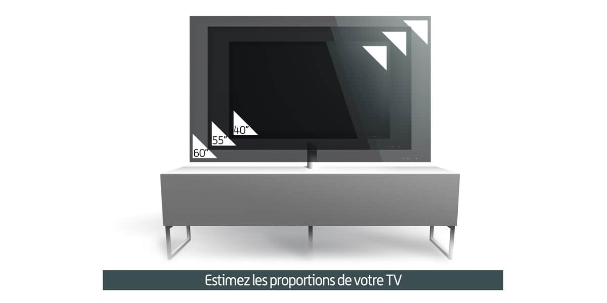 Meliconi new york 160 noir meubles tv meliconi sur for Meuble tv york