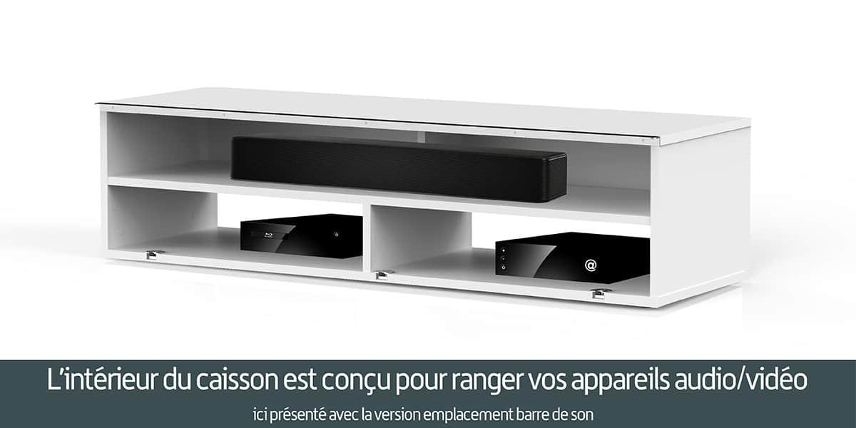 Meliconi noosa 120 bois fonc meubles tv meliconi sur - Meuble tv infrarouge ...