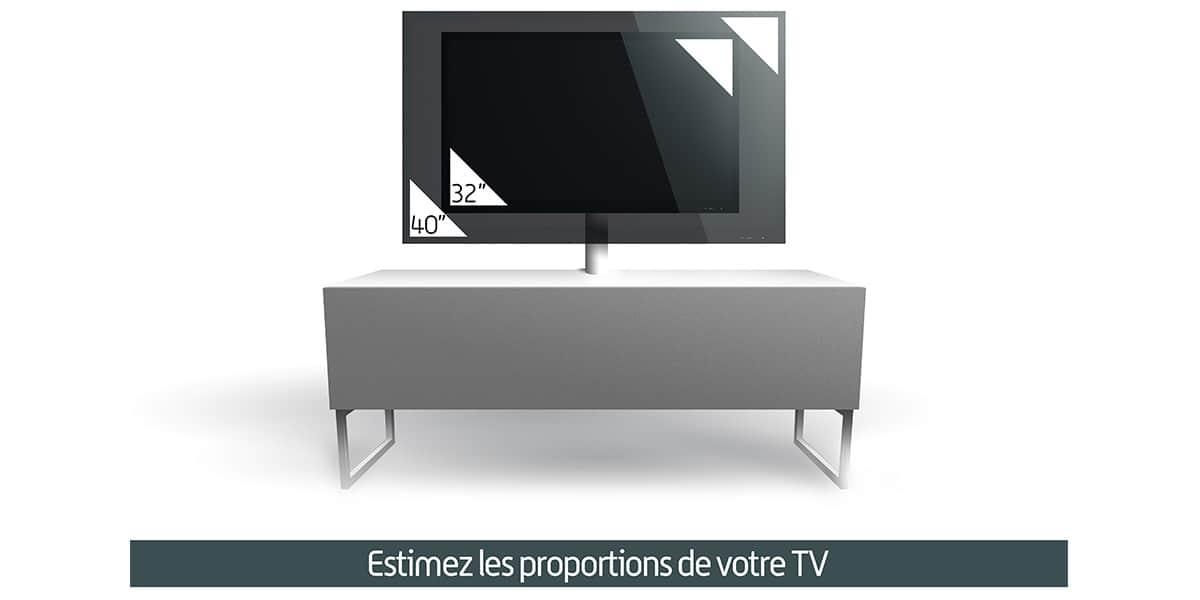 Meliconi phoenix 120 blanc meubles tv meliconi sur for Meuble tv meliconi