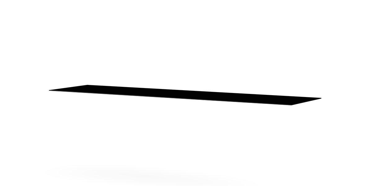 Meliconi Plateau en Verre trempé Noir