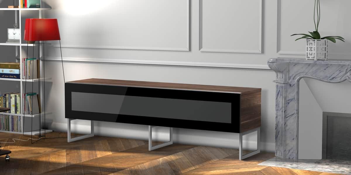 meliconi torino 160 bois fonc meubles tv meliconi sur easylounge. Black Bedroom Furniture Sets. Home Design Ideas