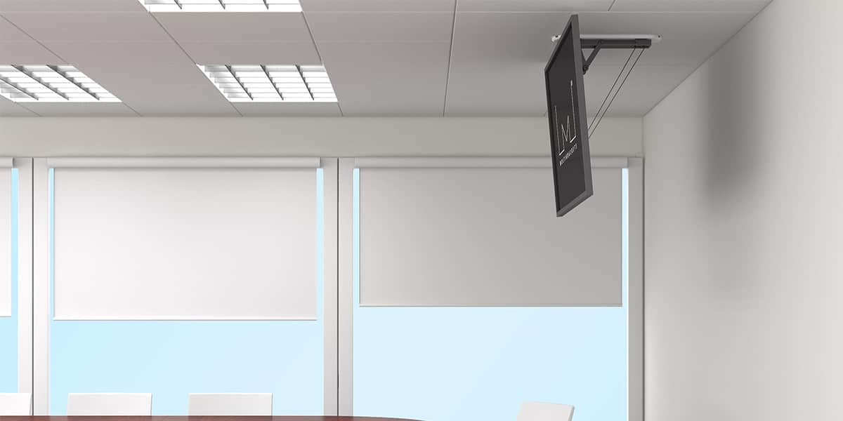 multibrackets mcm noir supports tv motoris s sur easylounge. Black Bedroom Furniture Sets. Home Design Ideas