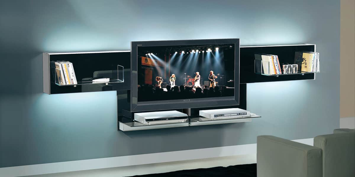 munari belt04 noir meubles tv munari sur easylounge. Black Bedroom Furniture Sets. Home Design Ideas