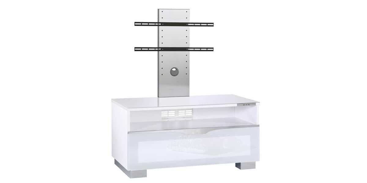 Munari comp52a blanc meubles tv munari sur easylounge - Meuble tv avec support ...