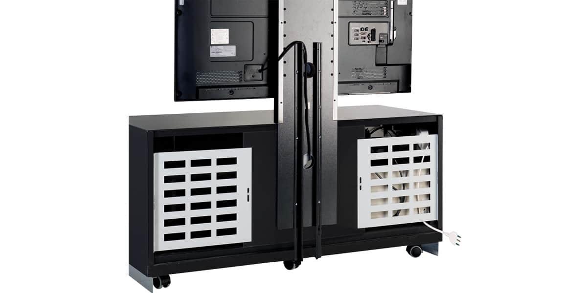 Munari ps150 096 noir meubles tv munari sur easylounge for Meuble support tv